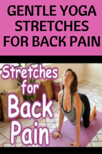stretches for back pain relief  beginner yoga stretch